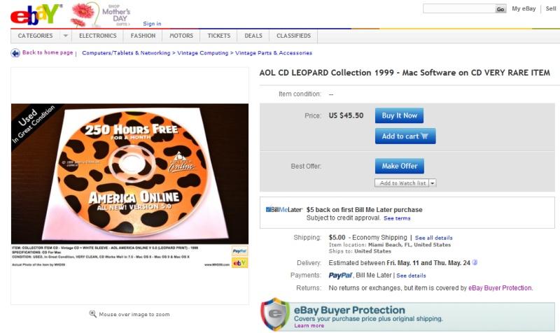 aol cd on ebay
