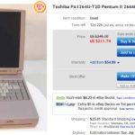 ebay - tecra 266mhz laptop